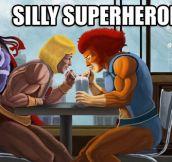 Silly Superheroes: 15 Hilarious Pictures of Superheroes being awesomely silly