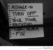The Best Of Irritating Car Alarm Rage Notes (14 Pics)