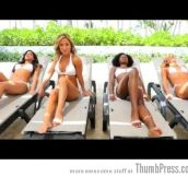 "Hot Miami Dolphins Cheerleaders Sing ""Call Me Maybe"""