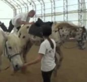 How not to jump on a horse