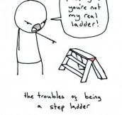 The troubles of being a step-ladder