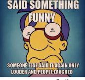 Said something funny
