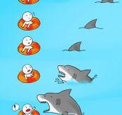 A shark attack
