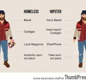 Homeless vs. Hipster