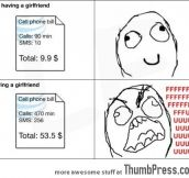 The downside of having a girlfriend…