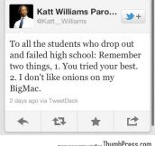 To all students who failed…