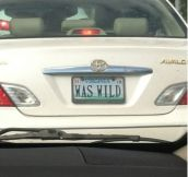 Old lady drove by. This is her license plate.