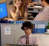 I can't flirt… Seriously, I'm not a observant man