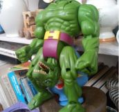 Now I know why The Hulk is so angry!