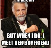 When I meet a nice girl…