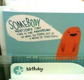 Awesome birthday card is awesome