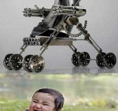 Because regular stroller is too mainstream