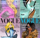 Disney Princesses x Vogue