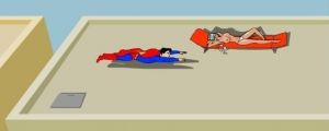 Superman flying too low