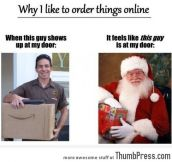 The joys of ordering online
