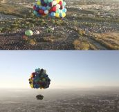 Up's flying house in real life.