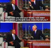 Note to self: before being a dad, be the president first