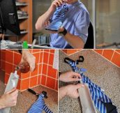 Flask Tie, finally a tie worth wearing.