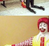 Ronald gets plenty of action