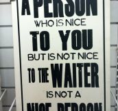 "Great wisdom about ""nice"" people."