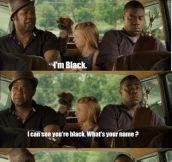 He's Black.