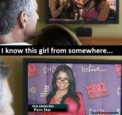 I know her…