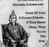 ONE IN FOUR PEOPLE…
