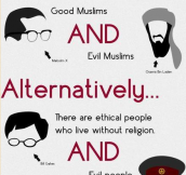 RELIGION ≠ ETHICS