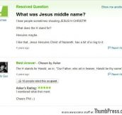 What was Jesus middle name?