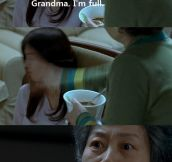 An actual scene from a Korean movie