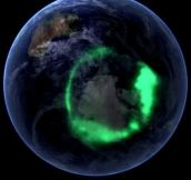 Aurora Lights seen from space.