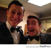 Joseph Gordon-Levitt and Daniel Radcliffe seem to be having a good time