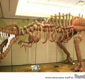 Just a T-rex made out of balloons.