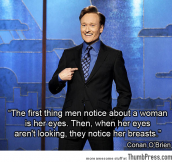 Conan hits it right on the boob