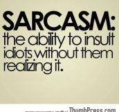 Real definition of Sarcasm