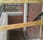 Do not enter here