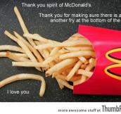 I love fries.
