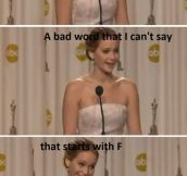 JUST JENNIFER LAWRENCE.