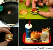 Smallest Burger in the World