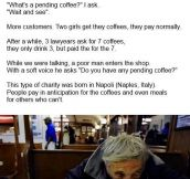 THE PENDING COFFEE.