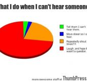 What I do when I cant hear someone