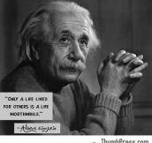 Wisdom from Albert Einstein