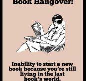 BOOK HANGOVER.