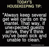 Best housekeeping tip