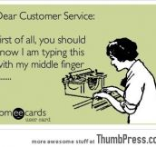 Dear Customer Service