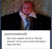 Formal picture of a baby