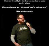 I like helping people.