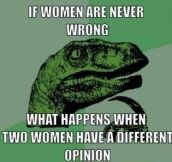 If women are never wrong…