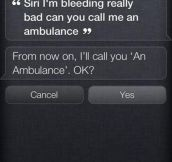 I'll call you an ambulance