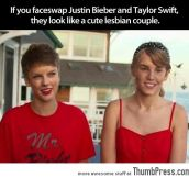 JUSTIN BIEVER AND TAYLOR SWIFT FACESWAP.
